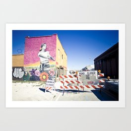 road closed Art Print