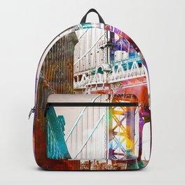 Time Travel at the Brooklyn Bridge Backpack