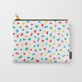 Boom Things: Dino's, Bright on White Carry-All Pouch