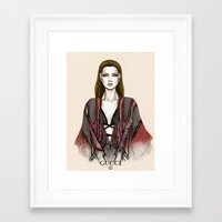 gucci Framed Art Prints featuring Gucci illustration by Tania Santos
