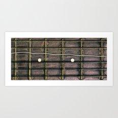 Last guitar song. Art Print