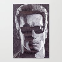 terminator Canvas Prints featuring Terminator by DeMoose_Art