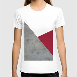 Concrete Burgundy Red White T-shirt