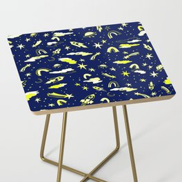 Rockets and rainbows Side Table