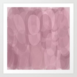 Purple shades Oval shapes Art Print