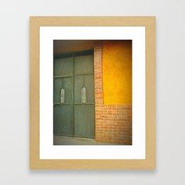 Yellow Grey Framed Art Print
