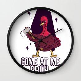 Thanksgiving Turkey Threat Wall Clock