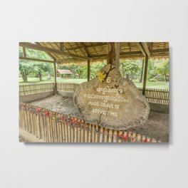 Mass Grave of 450 Victims, Killing Fields, Cambodia Metal Print