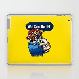 We Can Do It English Bulldog Laptop & iPad Skin