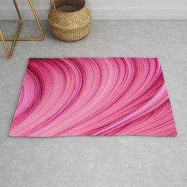 Dream Fiber III. Bubblegum Pink. Abstract Strands Rug