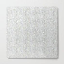 White Apophyllite Close-Up Crystal Metal Print