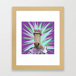 Unibrow Framed Art Print