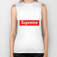 supreme Biker Tanks featuring Supreme by Harry Martin