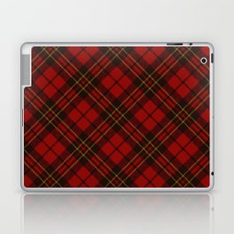 Adorable Red Christmas tartan Laptop & iPad Skin