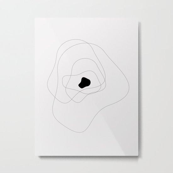 Abstract infinite in grey Metal Print