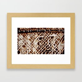 Unknown Face Framed Art Print