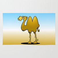 camel Area & Throw Rugs featuring Camel by Cardvibes.com - Tekenaartje.nl