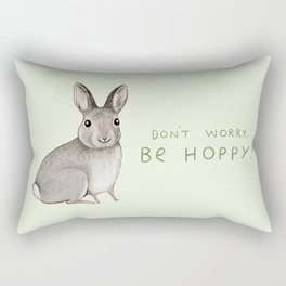 Don't Worry Be Hoppy Rectangular Pillow