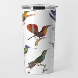 Six Colorful Hummingbirds Travel Mug