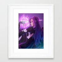 xmen Framed Art Prints featuring Psylocke by Helixel