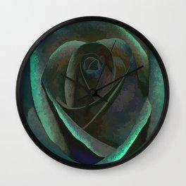 Northern Lights Rose Wall Clock