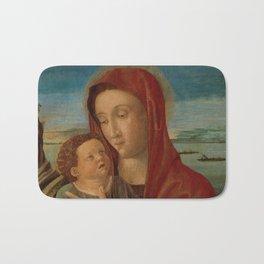 """Giovanni Bellini """"Madonna and child"""" (4) (1465-1470) Bath Mat"""