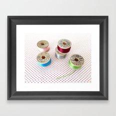 Silk Thread Spools Framed Art Print