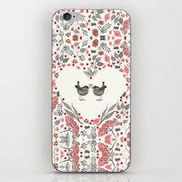 wesley bird iPhone & iPod Skins featuring BIRD by Monika Strigel