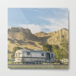 Wyoming Airstream Metal Print