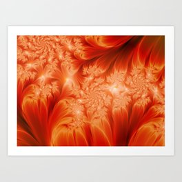 Fractal The Heat of the Sun Art Print