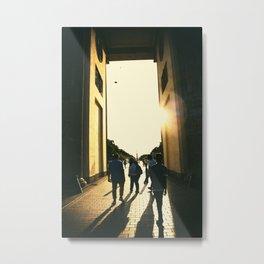 Golden hour at the Brandenburg gate Metal Print