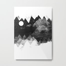 Torn Mounts Metal Print