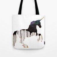 unicorns Tote Bags featuring Unicorns by Unicorn Alphabet
