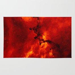 Rosette Nebula Space Photography Rug