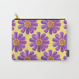 Sunburst on Yellow Carry-All Pouch
