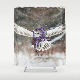 Birds In Armor Shower Curtain