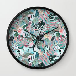 Floral, geometric abstraction Wall Clock