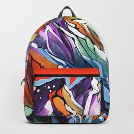 Freezing Hot Colorful Mountain Art Backpack