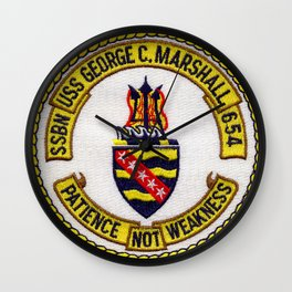 USS GEORGE C. MARSHALL (SSBN-654) PATCH Wall Clock