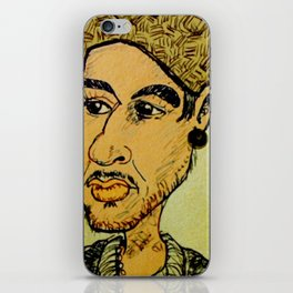 Young man with hat iPhone Skin