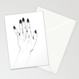 Black Nails Stationery Cards