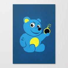 Evil Tattooed Teddy Bear Canvas Print