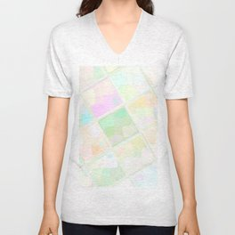 Re-Created Mirrored SQ LIX by Robert S. Lee Unisex V-Neck