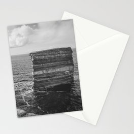 Dun Briste II Black and White Stationery Cards