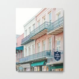 French Quarter, New Orleans Travel Photography Metal Print