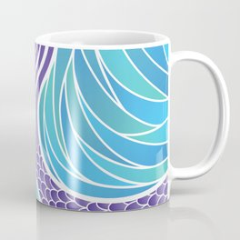 Purple Mermaid's Tail Coffee Mug