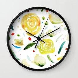 dance flowers Wall Clock