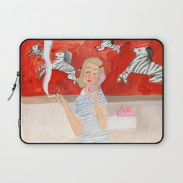 Margot in the bathroom Laptop Sleeve