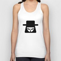 vendetta Tank Tops featuring v vendetta by atipo