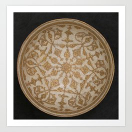 Intricate Bowl, 12th-13th century Art Print